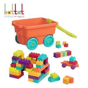 Battat – Locbloc Wagon – Building Toy Blocks for Toddlers