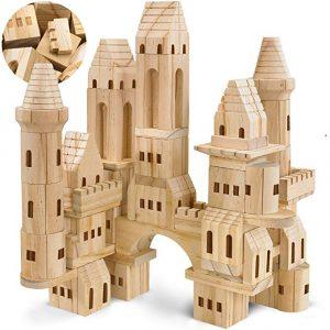 FAO Schwarz Wooden Castle Building Blocks Set