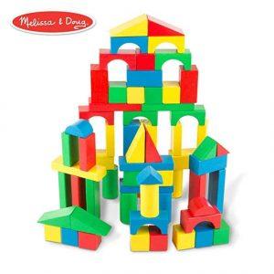 Melissa & Doug Wooden Building Blocks Set – 100 blocks