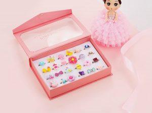 Girl Jewel Rings in Box