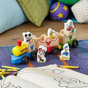 Melisa & Doug Mickey Mouse and Friends Wooden Train