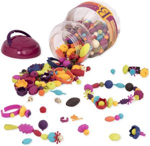 B. Toys - (500-Pcs) Pop Snap Bead Jewelry - DIY Jewelry Kit for 5 year Kids