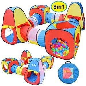 16. UTEX 3 Kids Play Tent and Tunnel