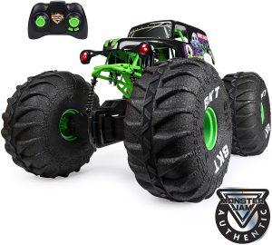 Monster Jam, Official Mega Grave Digger All-Terrain Remote Control Monster Truck with Lights