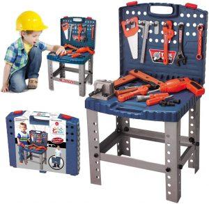 68 Piece Kids Toy Workbench W Realistic Tools