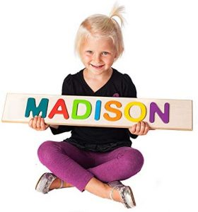 Fat Brain Child's Personalized Name Puzzle - Up To 9 Letters