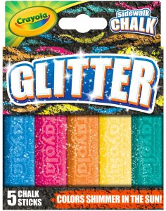 Glitter Sidewalk Chalk