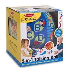 Melisa and Doug K's Kids 2 in 1 Talking Ball Educational Toy