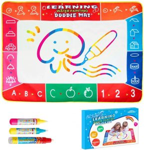Monilon Aqua Magic Water Doodle Mat Kids Learning Toys with 3 Magic Pens, 40 Inches X 28 Inches