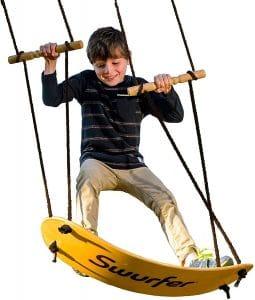 Swing-Board Stand-Up Wood Tree Swing